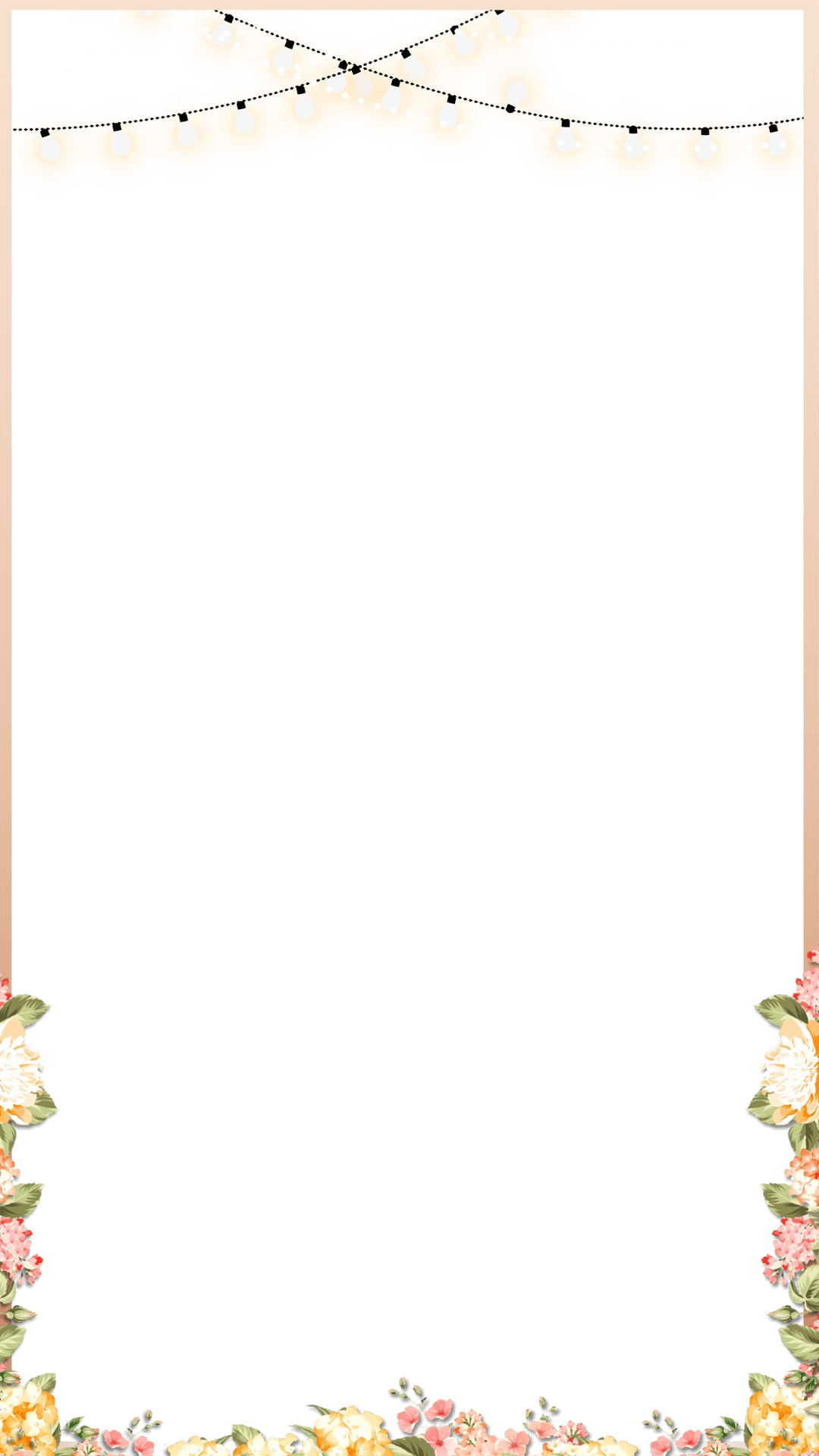HD Elegant Rose Gold Spring Floral Wedding Snapchat Filter.