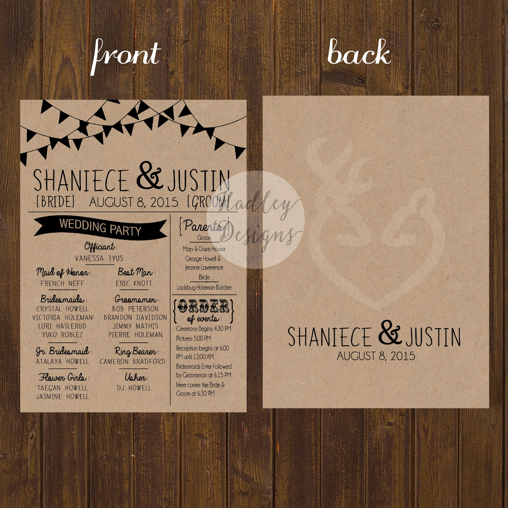 Wedding Program Clipart Letter R.