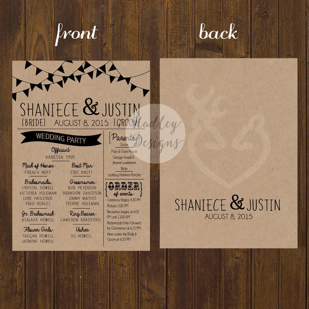 Wedding Program Clipart Letter R.