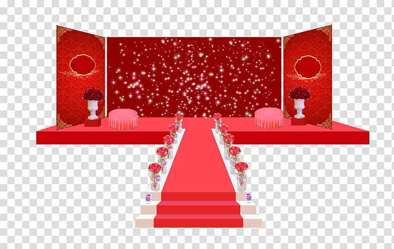 Red stage , Wedding Stage transparent background PNG clipart.