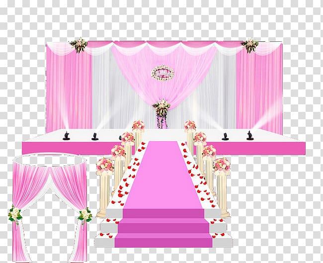 Wedding reception Stage, Wedding hall transparent background.