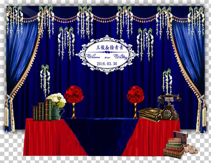 Stage Wedding PNG, Clipart, Blue, Blue Background, Blue.