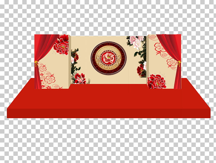 Stage Scenic design Wedding, Wedding renderings PNG clipart.
