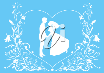 Royalty Free Clipart Image of a Wedding Invitation.