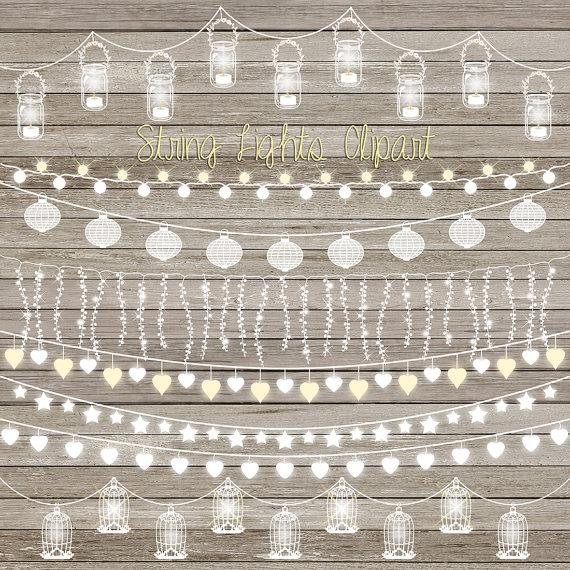String Lights Clip Art: \