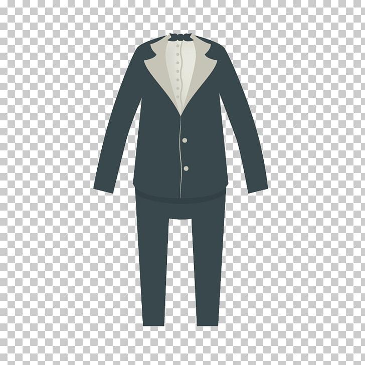 Bridegroom Tuxedo Wedding Suit, Free black dress and groom.