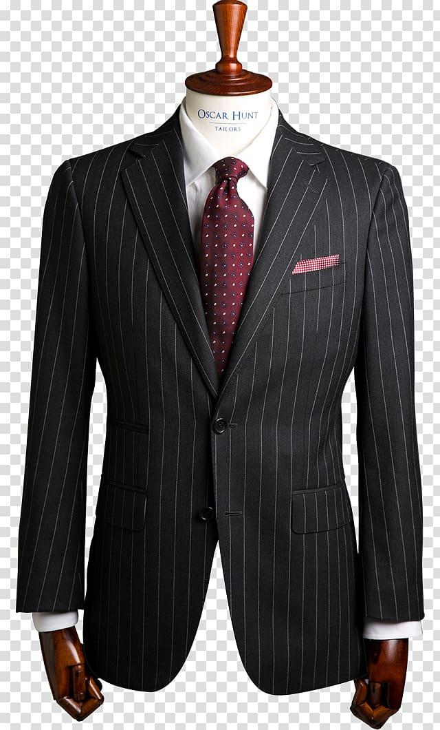Tuxedo Suit Pin stripes Clothing Necktie, wedding suit.