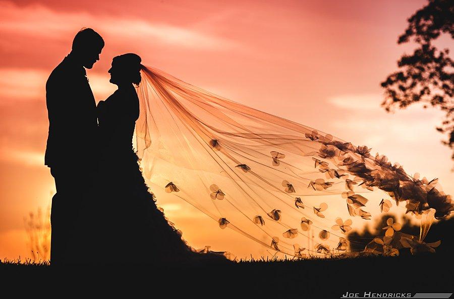 Wedding Silhouette Sunset.