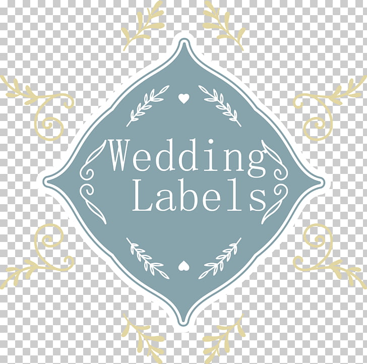 Wedding invitation Illustration, wedding label PNG clipart.