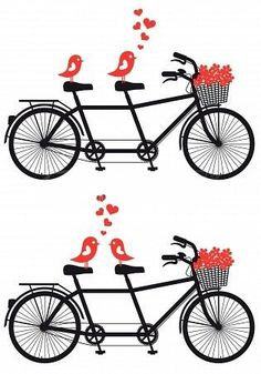 Tandem Bicycle Clipart Love birds Wedding by TheLilClipart.