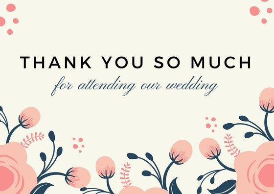 Wedding Thank You Notes for Guests in 2019.