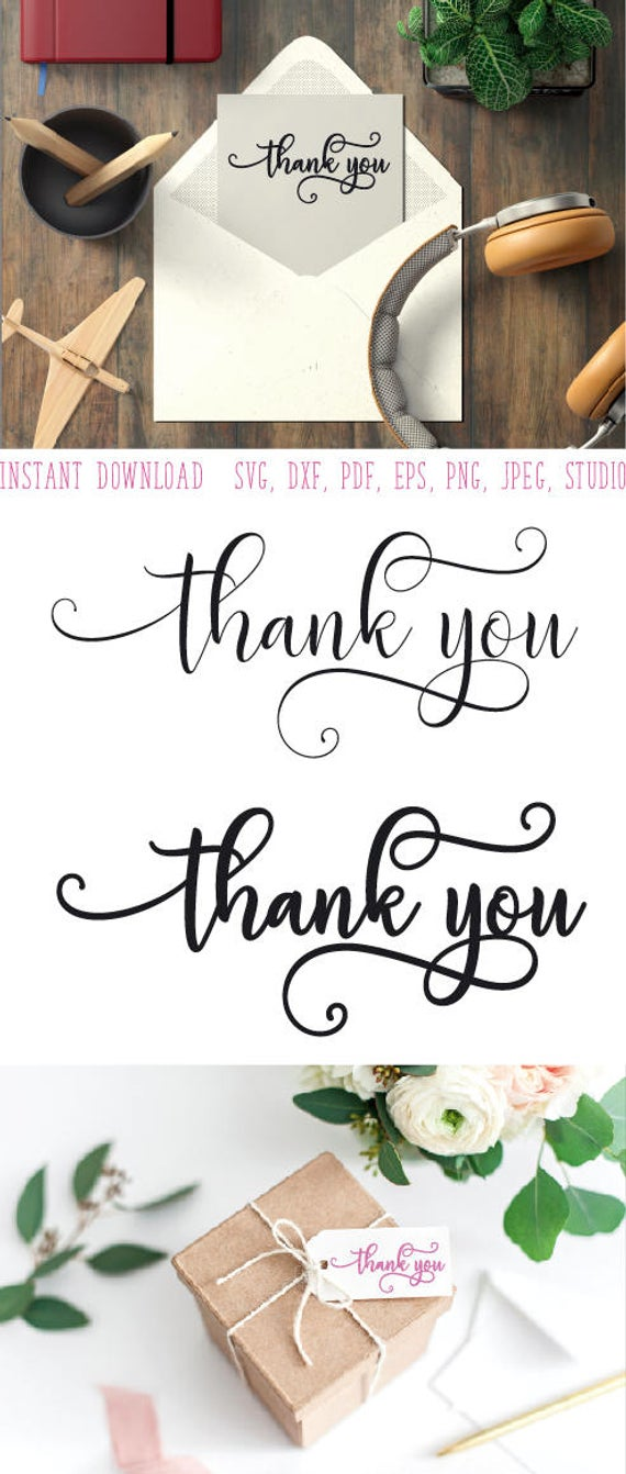 Thank you clipart svg wedding Thank you svg Thank you card printable Thank  you Clipart in EPS DXF SVG Cricut & Silhouette Thank you stamp.