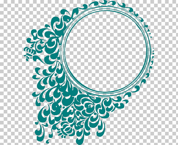 Graphic design , Wedding Free, round green border decor.
