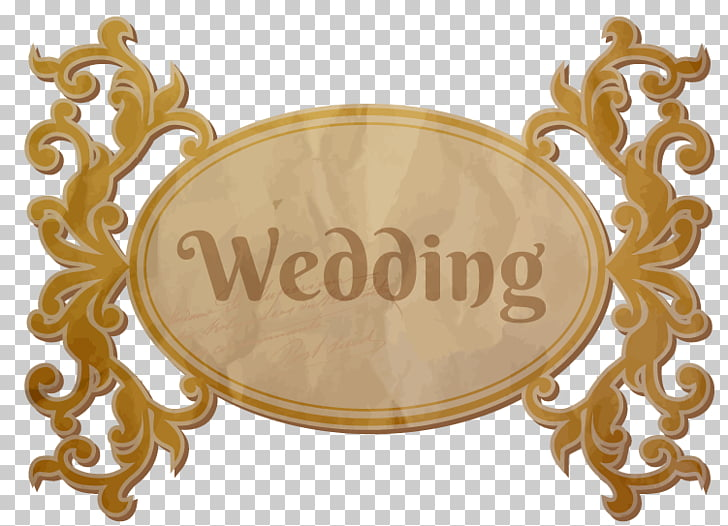 Ornament Wedding , gold wedding theme box PNG clipart.
