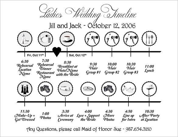 32+ Wedding Timeline Templates.