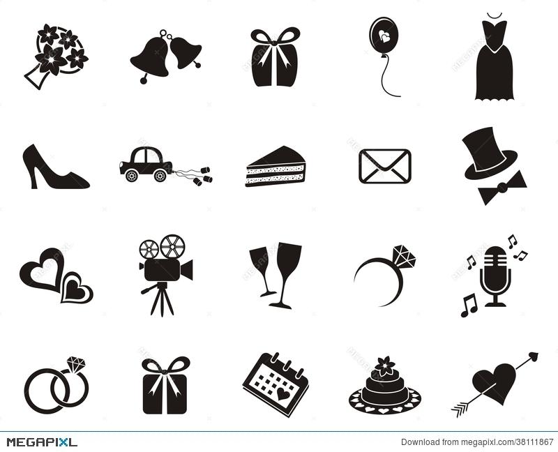 Wedding Icons Illustration 38111867.