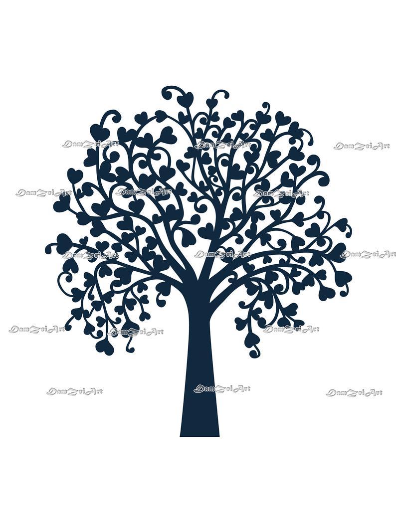 Tree Wedding laser Cut Cricut studio3 (ai, svg, pdf, png) vector file  pattern, ornamental panels Digital Download.