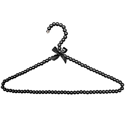 Amazon.com: FRECI Pearl Beaded Clothes Hanger Coat Trouser.