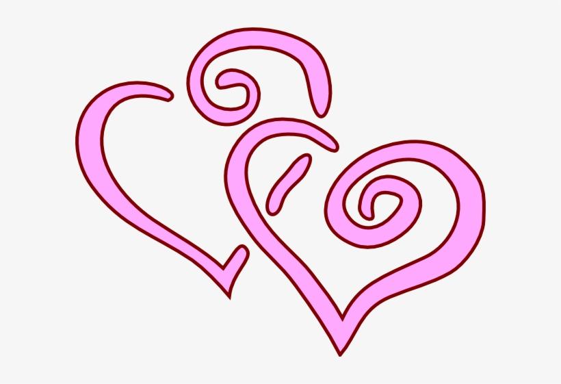Free Pink Wedding Heart Clipart.