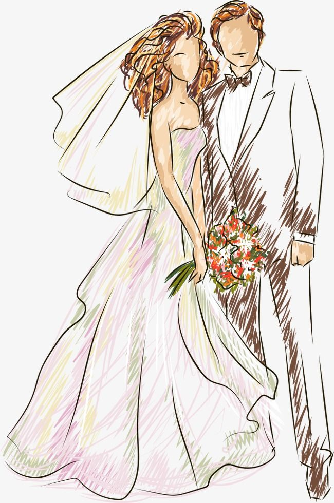 2019 的 Vector Wedding, Wedding Clipart, Characters.
