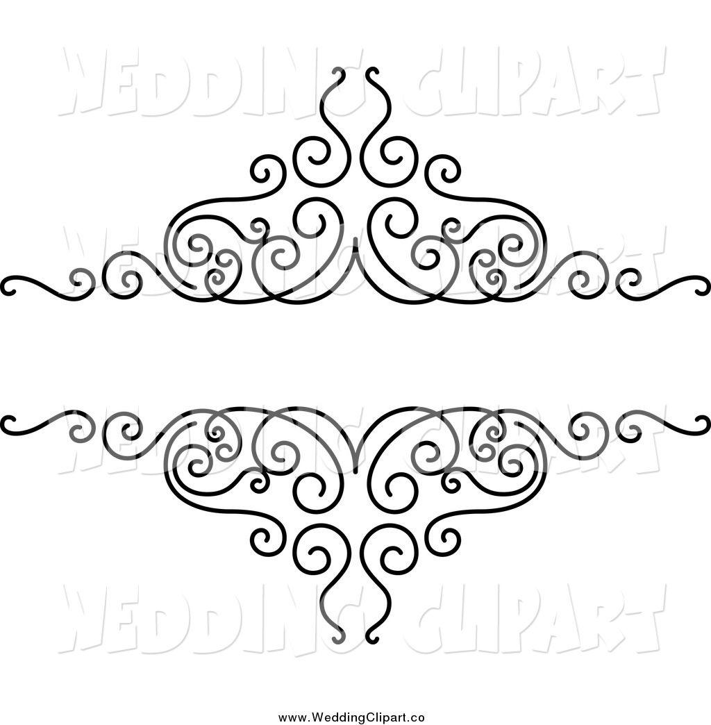 Wedding Design Clipart Border.