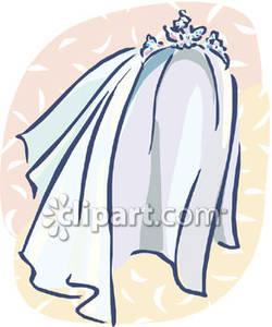 A Wedding Veil With A Tiara.