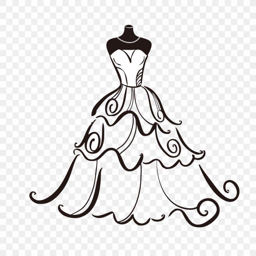 Wedding Dress Bride Clip Art, PNG, 1000x1000px, Wedding.