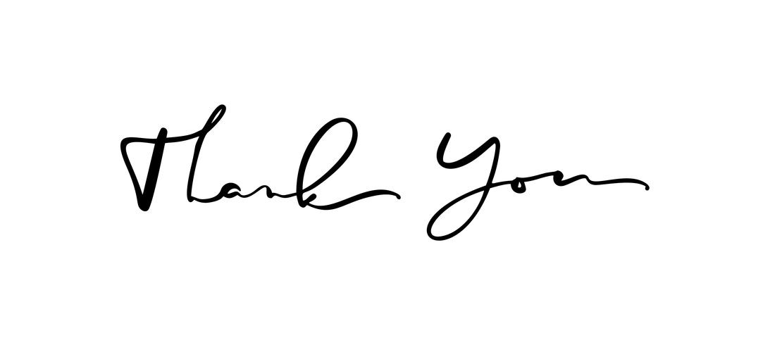 Calligraphy lettering Vector text Thank you. Isolated on.