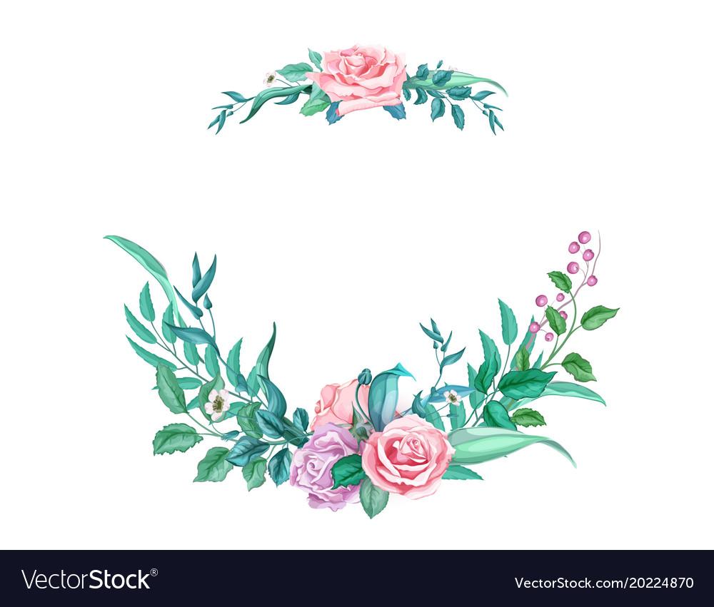 Watercolor vintage rose flower wedding card.