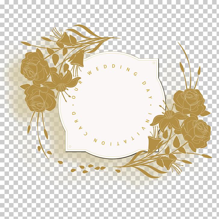 Wedding invitation Flower, European.