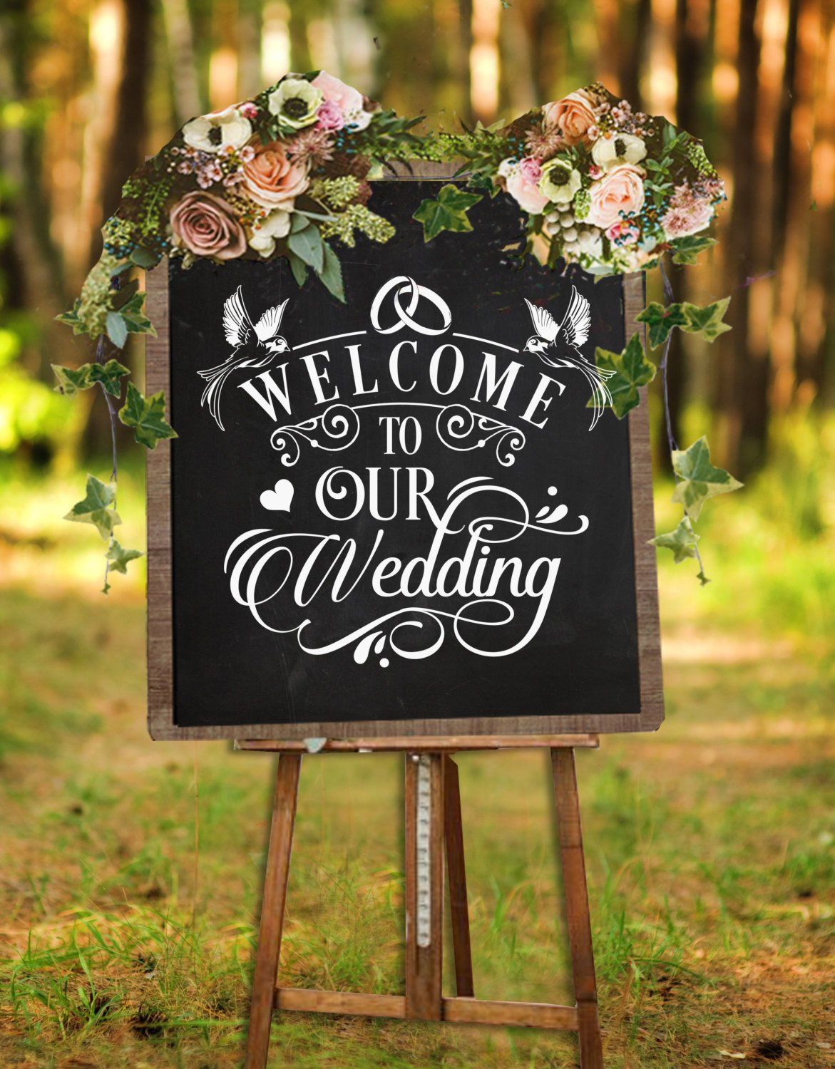 Welcome to our wedding sign SVG file Cutting File Clipart in Svg, Eps, Dxf,  Png for Cricut & Silhouette svg.