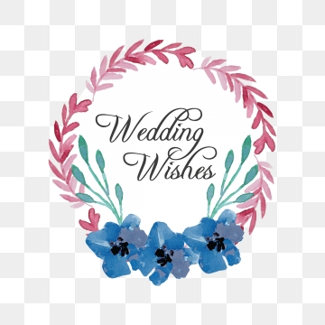 Wedding Wishes Png, Vector, PSD, and Clipart With Transparent.