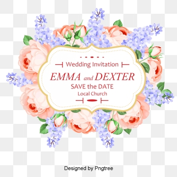 Wedding Greeting Cards PNG Images.