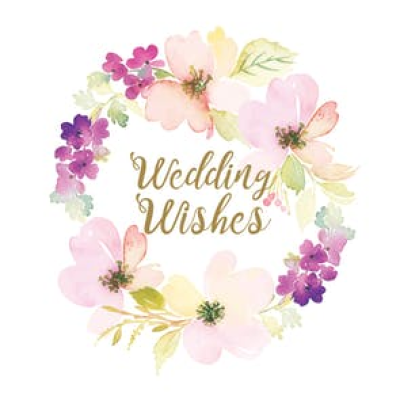 Wedding Wishes Free Wedding Congratulations Card PNG.