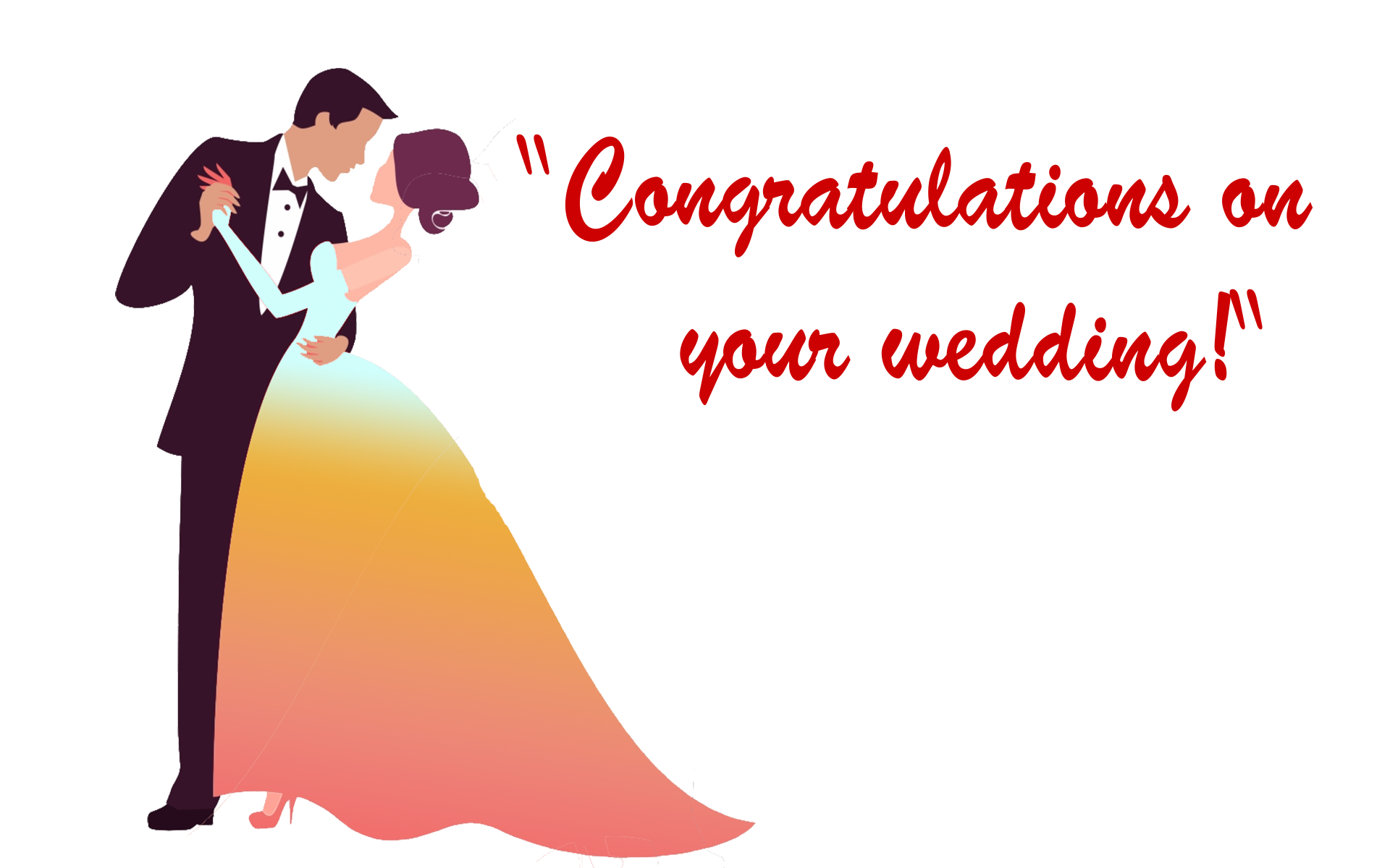 Wedding Wishes! PNG Free Image Download.