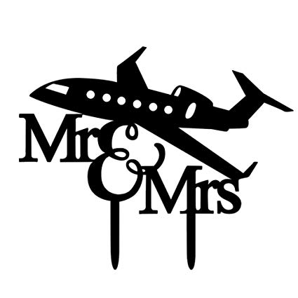 Amazon.com: BESTOYARD Airplane Mr and Mrs Cake Topper.