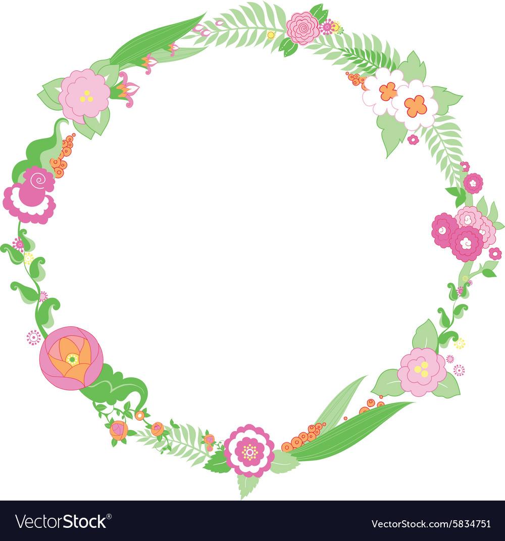 Wedding colorful flower Wreath.