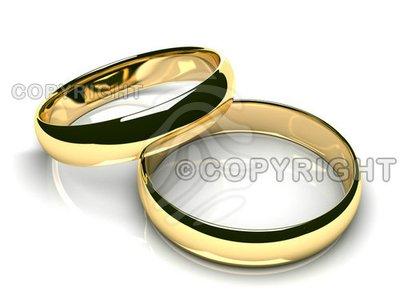 gold wedding bands clipart.