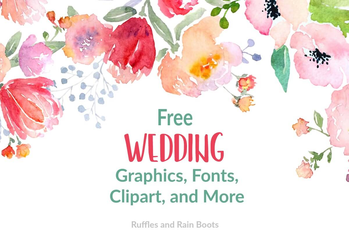 Free Wedding SVGs, Fonts, and Clipart for Gifts and Stationery.