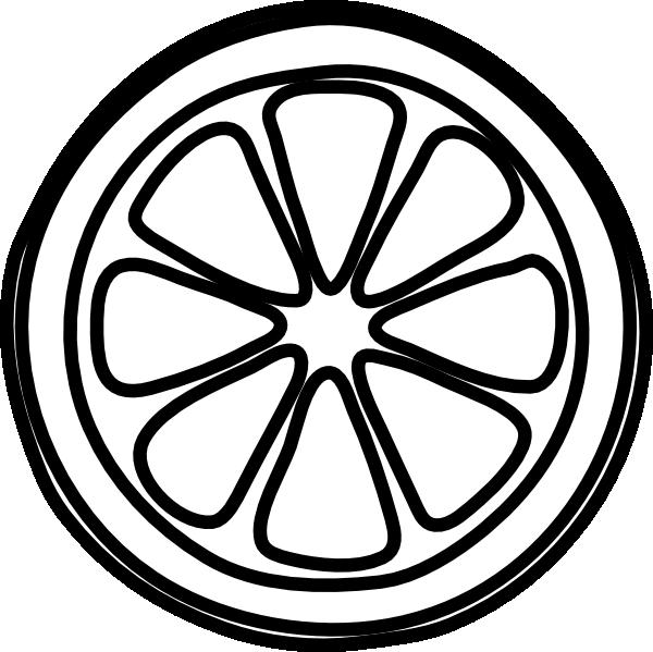 Lemon Slice Clipart Black And White.