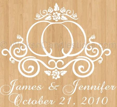 Wedding Dance Floor Decals Cinderella\'s Pumpkin Coach.