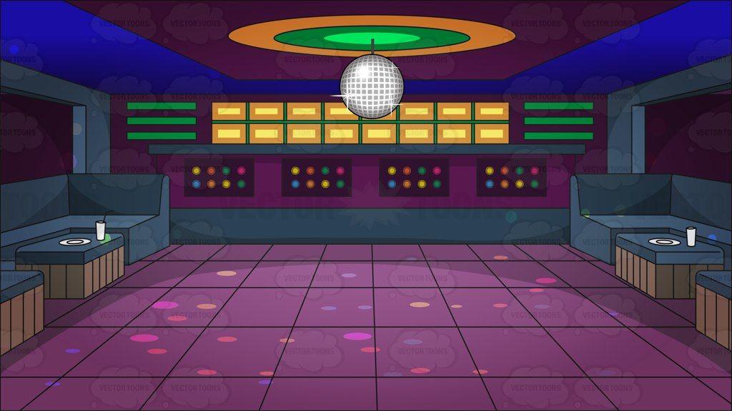 A groovy looking nightclub dance floor background #cartoon.