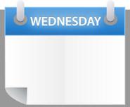 Wednesday Calendar Clipart.