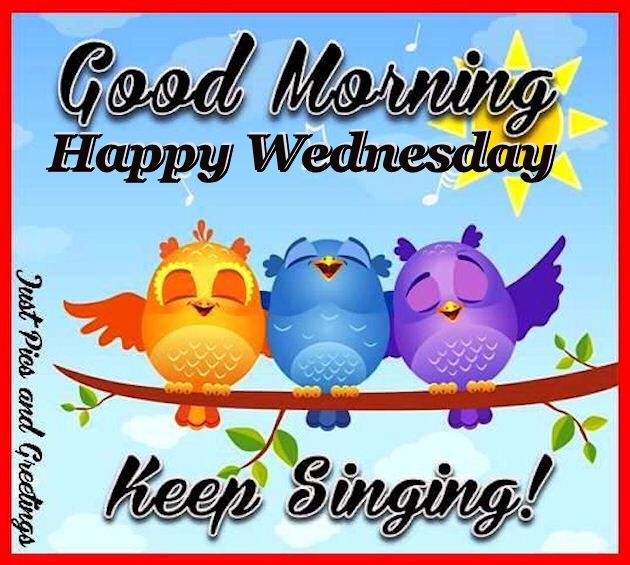 Good Morning Happy Wednesday Keep Singing Pictures, Photos.