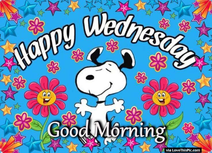 Snoopy Good Morning Happy Wednesday Image Quote Pictures.