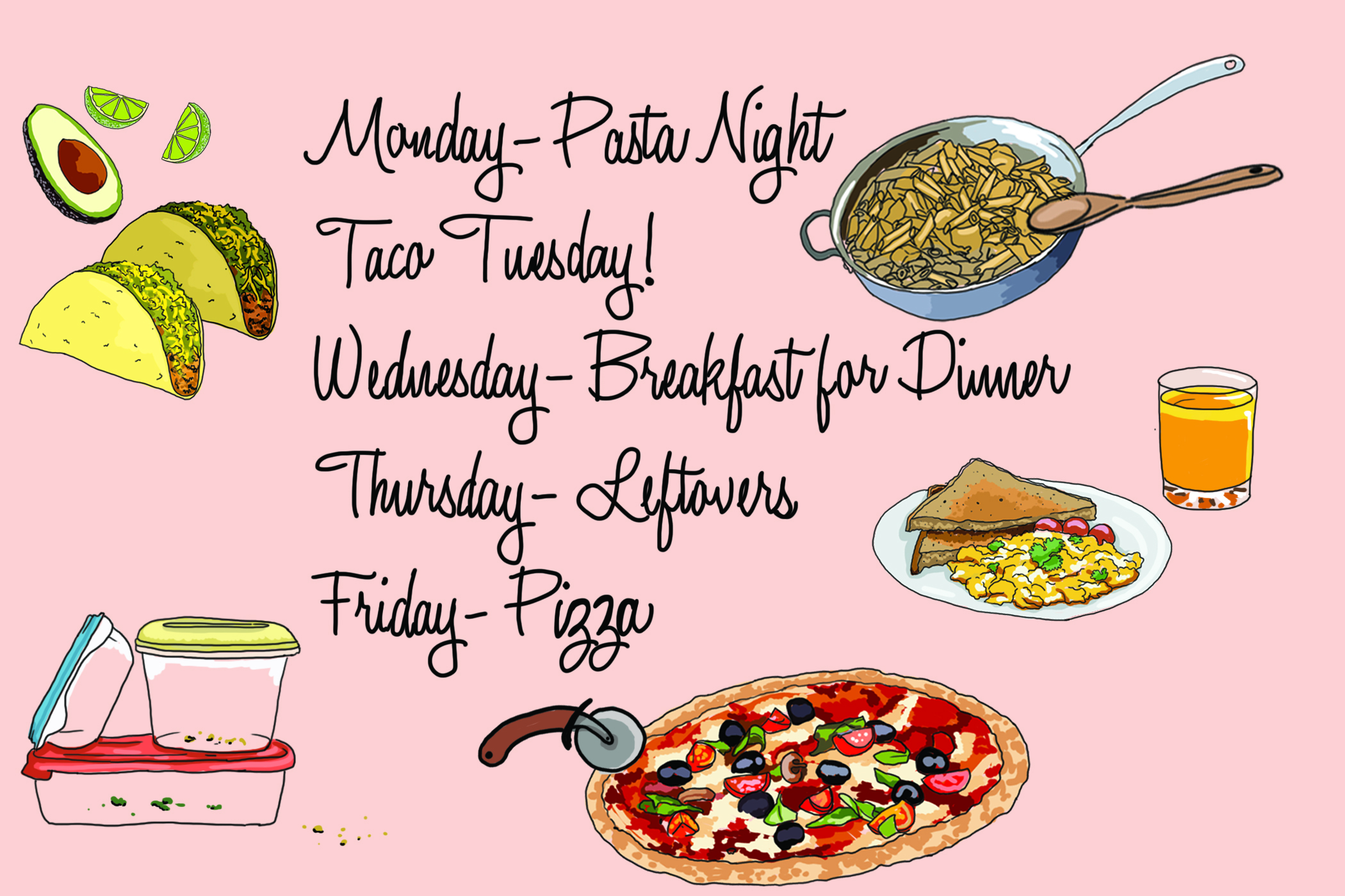5 Nights, 5 Dinners: My Simple Weekly Meal Plan.
