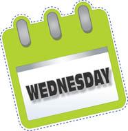 Wednesday clipart tuesday calendar, Wednesday tuesday.