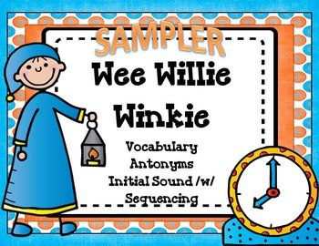 Wee Willie Winkie Nursery Rhyme Activities and Lesson Plans.