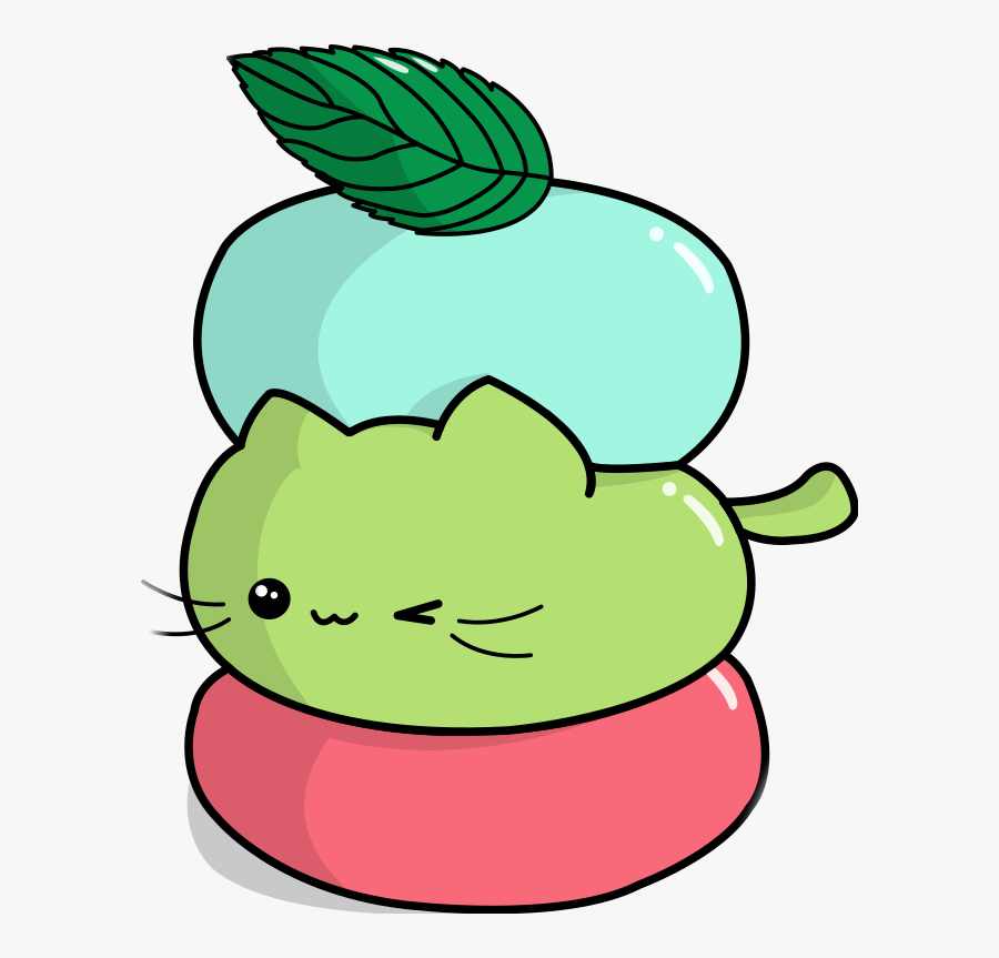 Mochi Cat Neko Kitty Chibi Weeb Cake Japan Clipart.