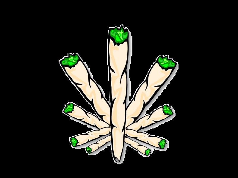 Joint Cannabis smoking Drawing.